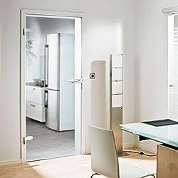 Glas-Drehtür Tür Zimmertür Innentür Wohnungstür 834x1972mm Sicherheitsglas 8mm (ESG) klar DIN links