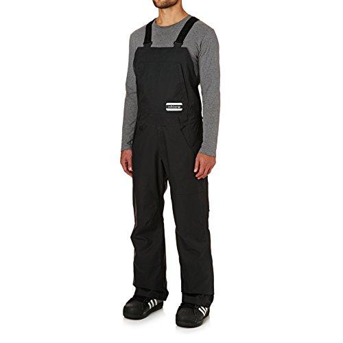 Pantaloni Con Bretelle Snowboard Adidas Glisan Bib Nero-Mesa (L , Nero)