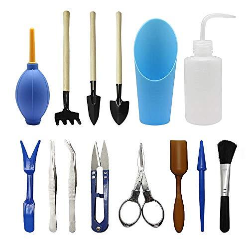 Homagty Kit de 14petits outils pour transplantation / entretien manuel de terrarium