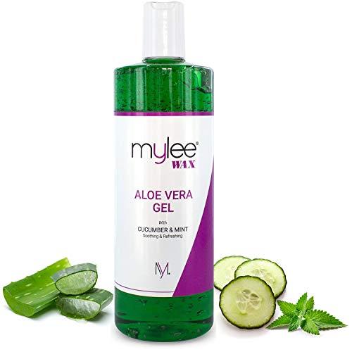 Mylee, gel lenitivo all'aloe vera per lenire la pelle dopo l'epilazione o come trattamento doposole, 500ml (etichetta in lingua italiana non garantita)