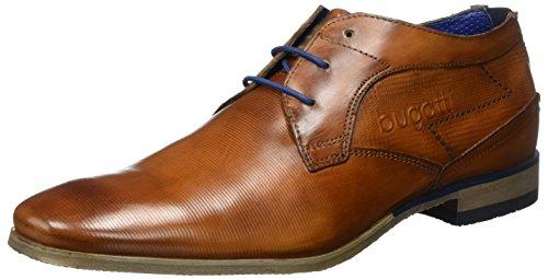 Bugatti Herren 312105071100 Derby, Braun (Cognac 6300), 44 EU