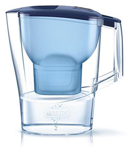 BRITA Aluna - Jarra de Agua Filtrada con 1 Cartucho MAXTRA+, Filtro de Agua que Reduce la Cal y el Cloro, Agua Filtrada para un Sabor Óptimo, Color Azul
