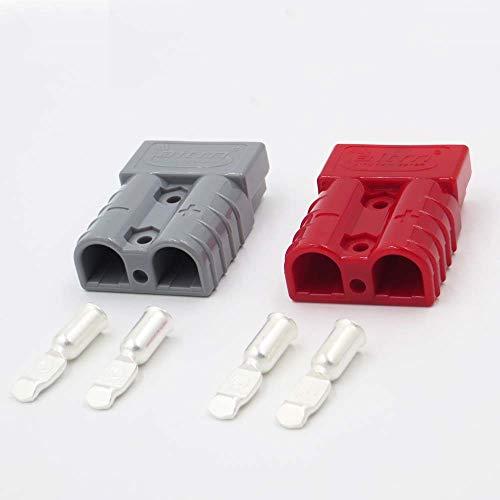 Ochoos, 2 set di connettori a doppio polo da 600 V, 50 A, colore grigio, SB50, con 4 contatti in...