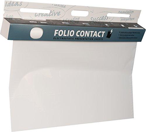 Folio Contact - Bacheca elettrostatica, riscrivibile, aderisce a quasi ogni superficie