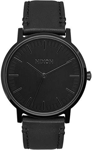 Nixon Herren Analog Quarz Uhr mit Leder Armband A1058001-00