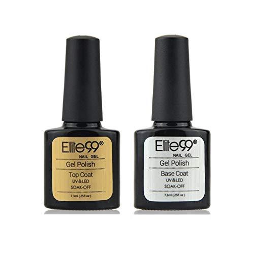 Elite99 Base e Top Coat Semipermanenti, Smalto Semipermente per Unghie in Gel UV LED