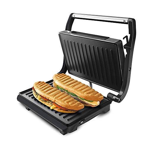 Taurus Grill & Toast Piastre Tostapane, Acciaio Inossidabile, Grigio, 14.5 cm