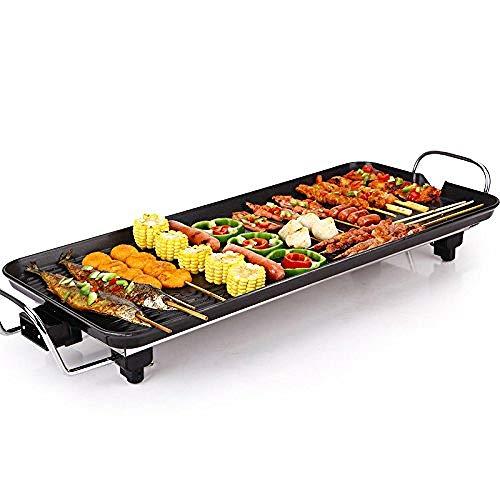 Grill Elettrico Multifunzione Antiaderente Pentola Elettrica Piastra di Riscaldamento per Barbecue...