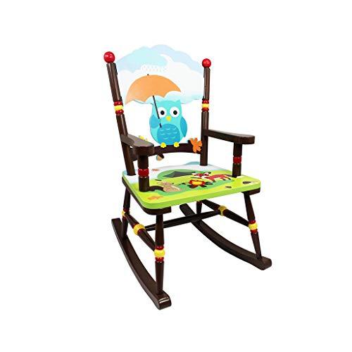 HYYTY-Y Sedia A Dondolo per Bambini, Poltrona Jungle Dipinta A Mano in Legno 604-YY (Color : B)