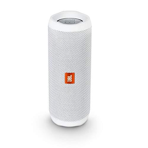 JBL Flip 4 Bluetooth Box in Weiß (Wasserdichter, tragbarer Lautsprecher mit Freisprechfunktion & Alexa-Integration - Bis zu 12 Stunden Wireless Streaming mit nur einer Akku-Ladung))