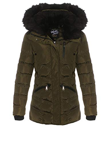 Geographical Norway - Parka trapuntato da donna verde 42 IT/Small
