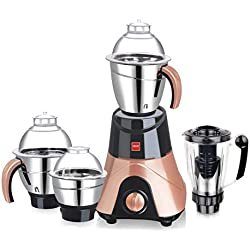 Cello Mega Plus 750-Watt Mixer Grinder with 3 Stainless Steel Jar and 1 Juicer Jar (Black)