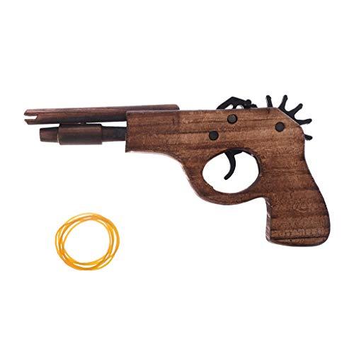 Simulation Bullet Rubber Band Launcher pistola in legno pistola a mano tiro giocattolo