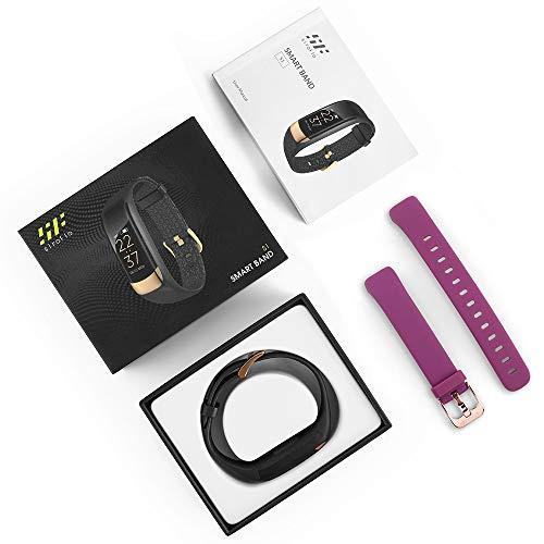 siroflo Fitness Tracker, Montre Connectée Tracker d'Activité IP67 étanche, Smartwatch Bracelet Bluetooth Podomètre avec Moniteur de Sommeil/... 28