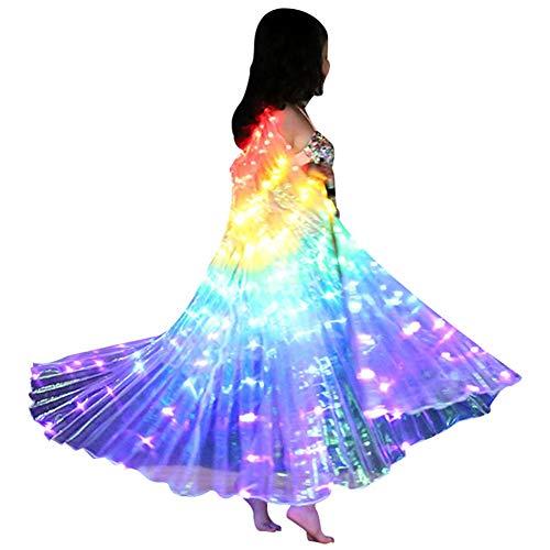 Keepbest Kids Dancers Capa LED Luminosa de Alto Rendimiento para Baile de Vientre, alas de Mariposa, Accesorio de Carnaval