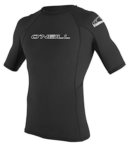 O' Neill Wetsuits Uomo Basic Skins S/S Crew Rash Vest, Uomo, Basic Skins S/S Crew, Black, L