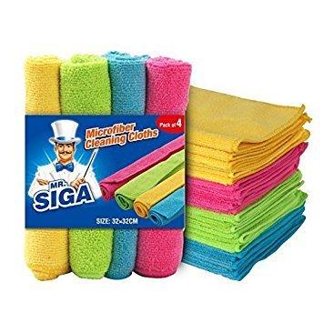 MR. SIGA Microfiber Cleaning Cloths, Size: 32 x 32cm - by MR. SIGA
