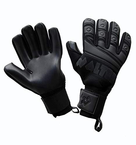 WALTER Guanti da Portiere Professionali Modello G-Tex (9,5, Black)
