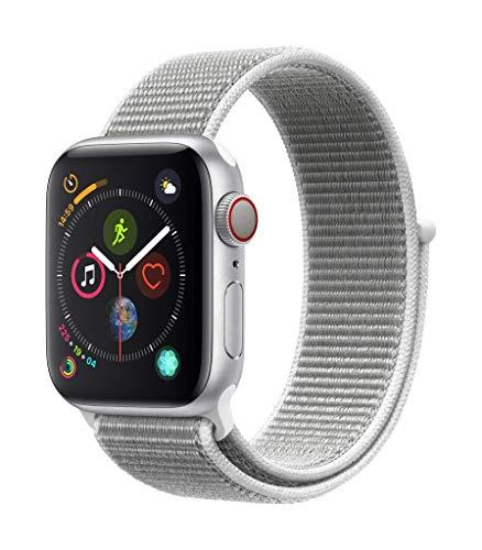 AppleWatch Series4 (GPS+Cellular) con caja de 40mm de aluminio en plata y correa Loop deportiva en color nácar
