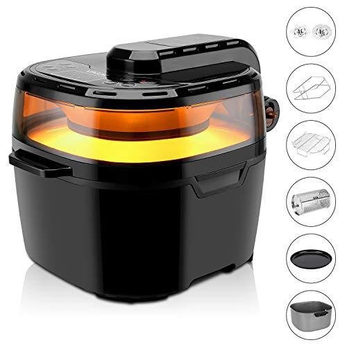 Friggitrice senza olio multifunzione digital VPCOK, friggitrice ad aria 10 litri e 1200w,...