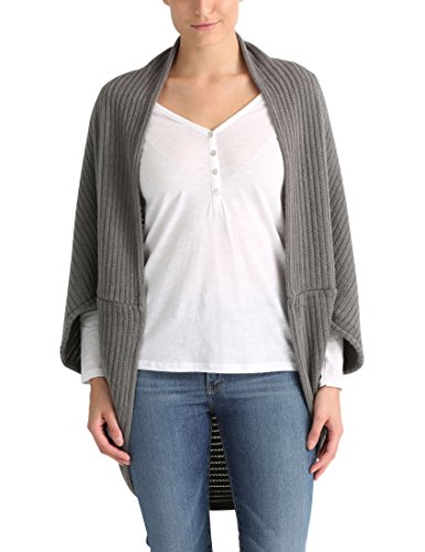 Berydale Damen Strick-Cape, Grau, OS