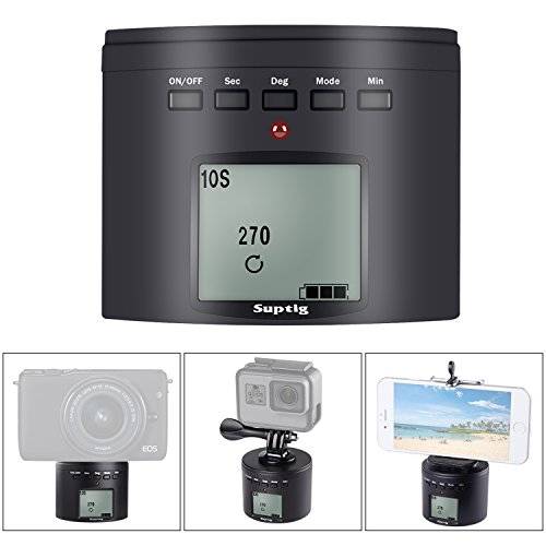 Suptig treppiede treppiedi elettrico 360gradi treppiede testa per iPhone Samrtphone fotocamera Action Camera