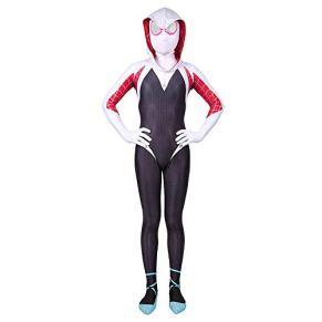 ERTSDFXA Gwen Spiderman Disfraces Niños Adulto Disfraz De Vengadores Mujeres Carnaval Disfraz De Halloween Medias Siamesas Partido,Child-XS(Height38-42Inch)