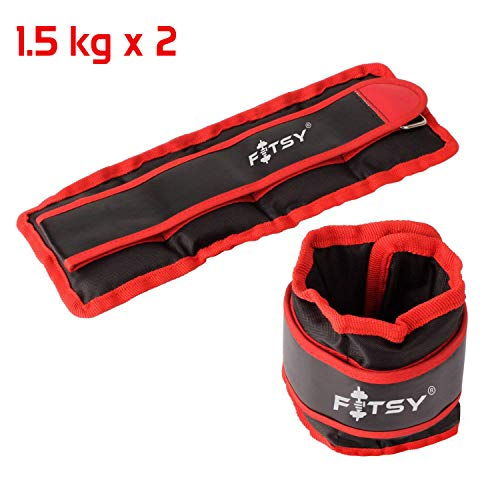 Fitsy Adjustable Ankle Weights (1.5 Kg X 2 Pieces)