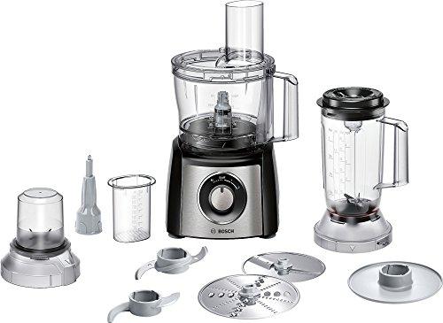 Bosch Mcm3501M Robot da Cucina Compatto, 800 W, Plastica, Acciaio Inossidabile, Nero/Argento