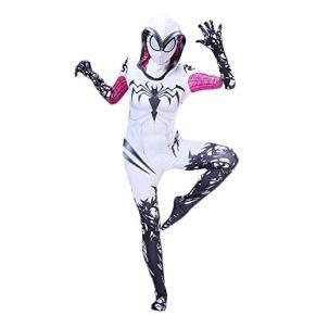 ERTSDFXA Gwen Spiderman Disfraz Cosplay Medias Elásticas Disfraces De Halloween Fiesta Jumpsuit Película Medias Siamesas Partido,Kid-XL
