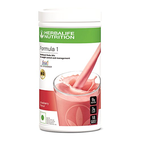 Herballife nutrition(weightloss wala) F-1-Nutritional Strawberry Shake Mix, 500 g