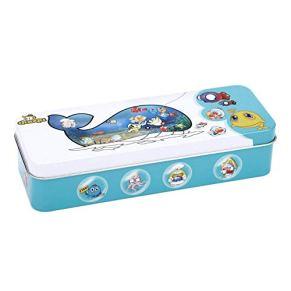 Fdit Juego de Pesca de Madera, Juguetes para niños, Peces magnéticos, Caja de Lata educativa para niños, niñas, 14 Peces…