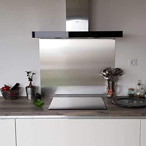 Credenza composita in acciaio inox spazzolato, altezza 75 cm x larghezza 80 cm