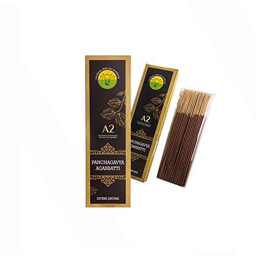 A2 Organics Handmade Panchagavya Agarbatti (100Sticks) - Pack of 2