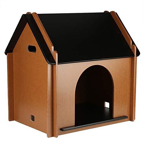EBTOOLS casa de Madera para Mascotas Perro Gato Desmontable Decorativo caseta de Perro cabaña para Animal doméstico para Interior 51x 38x 52cm
