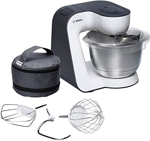 Bosch MUM54A00 Macchina da Cucina, 900 W, 3.9 Litri, Acciaio Inox e Plastic, 7 velocità, Grigio