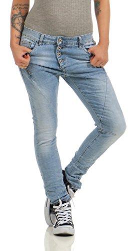 11424-LEXXURY-Damen-Jeans-Rhrenjeans-Hose-Boyfriend-Baggy-Haremscut-Damenjeans-Slim-Fit