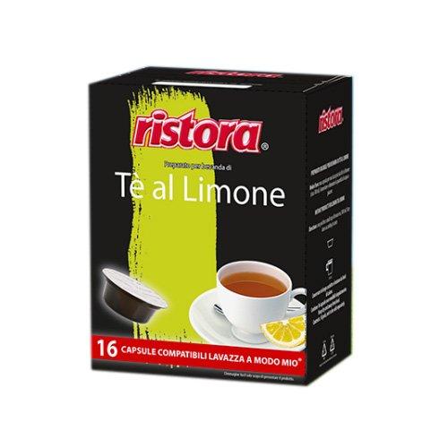 64 Capsule Cialde Ristora Compatibili Lavazza a Modo Mio Te The Limone