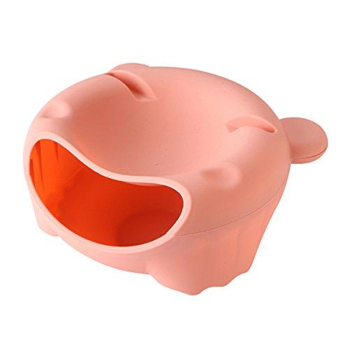 Bol de cocina para pipas color Rosa plástico, plato redondo de frutos secos, multifunción para cocina XD Panda