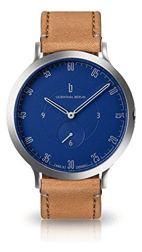 Lilienthal Berlin Herren Analog Quarz Uhr mit Leder Armband L01-103-B006A