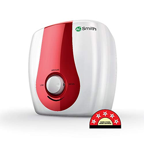AO Smith SGS-GREEN SERIES 15 Litre Vertical Water Heater White Body & Red Panel 5 Star