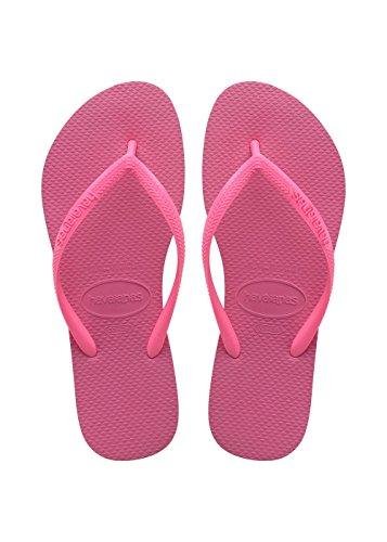 Havaianas Slim Infradito Unisex – Adulto, Rosa (Shocking Pink/Shocking Pink 8447), 33/34 EU (31/32...