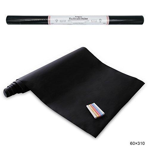 Carta Lavagna Adesiva - Adesivo Lavagna Rimovibile Memo da Parete- 60cm x 310cm con 5 Gessetti -...