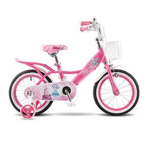 KXBYMX Bicicleta Infantil Bicicleta Infantil Bicicleta de Estudiante Princesa Bicicleta Infantil 12/14/16 Bicicleta…