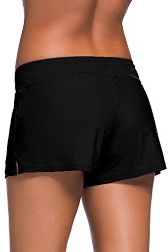 Boldgal Women's Bathing Costume Swim Shorts (Black) 7