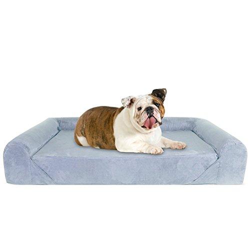 KOPEKS Deluxe Ortopedico Memory Foam Sofa Lounge Letto per Cani-Grande-Grigio