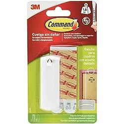 Command 17040 Ganchos soporte para cuadros, Blanco, Pequeñas