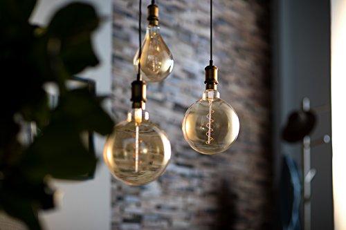 41Hu-i%2Bm9lL Bon Philips Hue !  Philips ampoule LED Giant Standard Vintage Filament E27 5W Equivalent 25W Claire Ambrée Blanc chaud