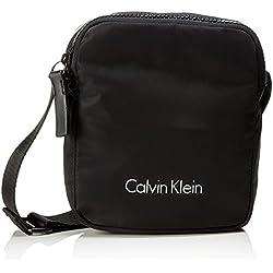Calvin Klein - Blithe Reporter, Shoppers y bolsos de hombro Hombre, Negro (Black), 6x22x19 cm (B x H T)