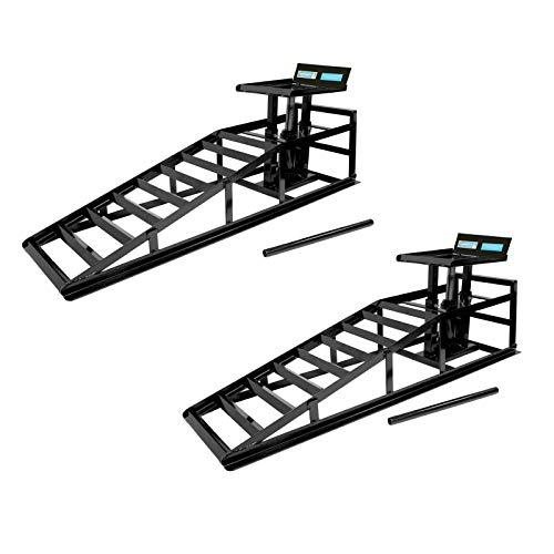 TrutzHolm hydraulischer Auffahrbock Auffahrrampe Pkw KfZ Wagenheber höhenverstellbar (2 Stück)